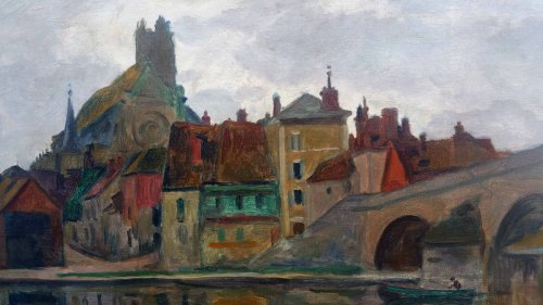 Saint Nicolas bridge -  Ossip Braz (1873-1936) - Paintings & Drawings Style