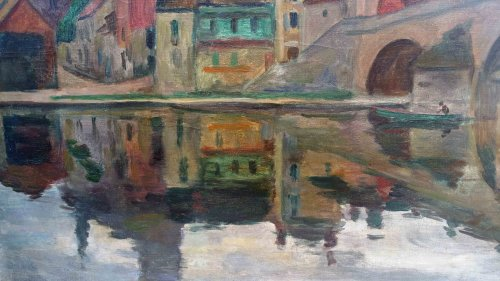 Paintings & Drawings  - Saint Nicolas bridge -  Ossip Braz (1873-1936)