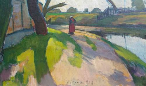 Paintings & Drawings  - Landscape by Ossip Braz (1873-1936)