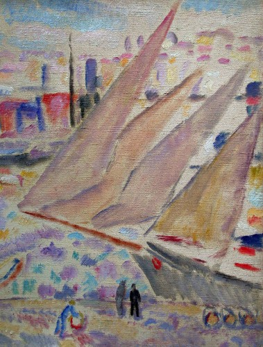 Paintings & Drawings  - Harbor of Marseille par A.Carrera (1878-1952)
