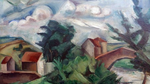 Paintings & Drawings  - Cubist Landscape - A.Favory (1888-1937)