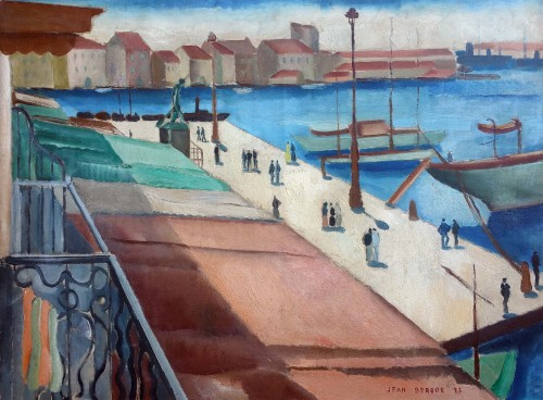 The port of Toulon - Jean Berque (1896-1954)