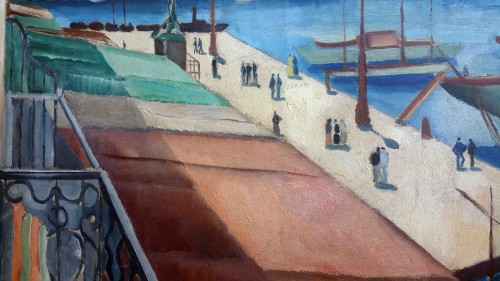 The port of Toulon - Jean Berque (1896-1954) - Paintings & Drawings Style Art Déco