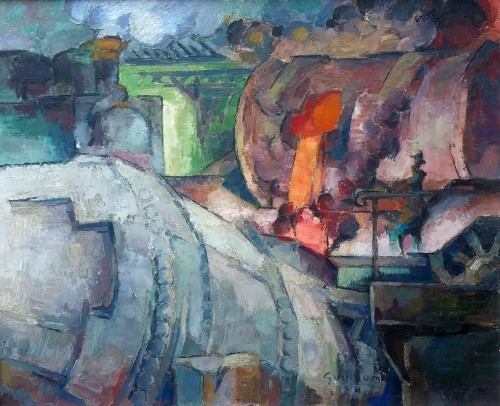 Steel mill - Victor Guillaume (1880-1942)