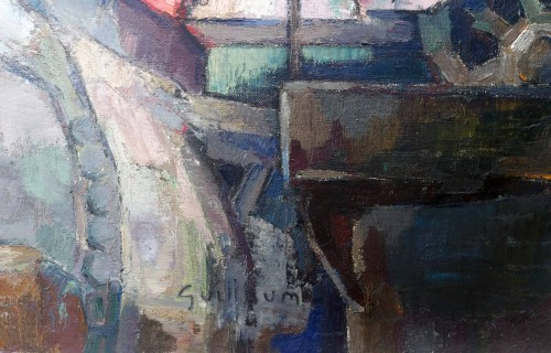 Steel mill - Victor Guillaume (1880-1942) - Paintings & Drawings Style