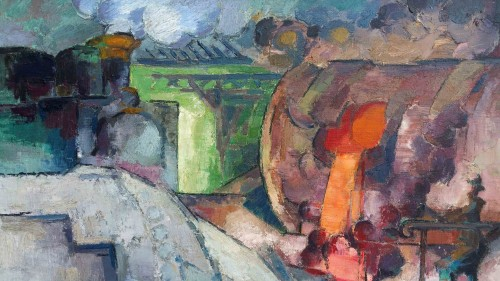 Steel mill - Victor Guillaume (1880-1942) -