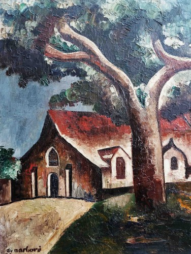 Paintings & Drawings  - Church - Jean Du Marboré (1896-1933)