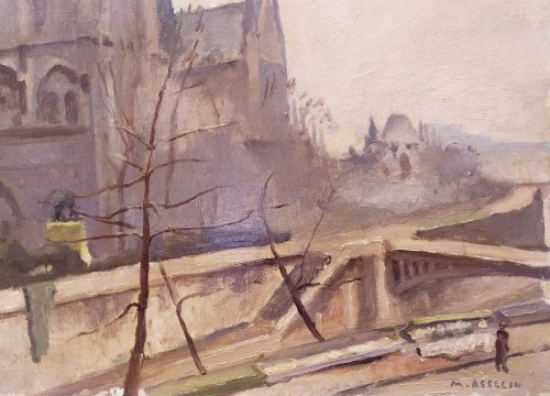 Paintings & Drawings  - Notre Dame de Paris- Maurice Asselin (1882-1947)