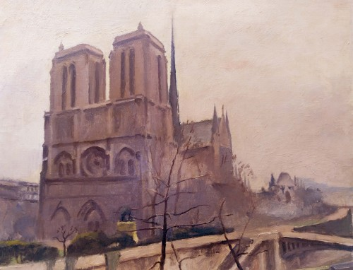 20th century - Notre Dame de Paris- Maurice Asselin (1882-1947)
