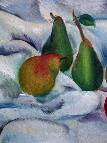 Seven Pears - Gabriel Fournier (1893-1963) - Paintings & Drawings Style Art Déco