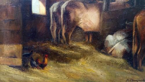 Paintings & Drawings  - The stable - Pierre Bompard (1890 –1962)