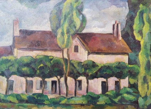Vouzeron (18) - Eugène Corneau (1894-1976) - Paintings & Drawings Style Art Déco