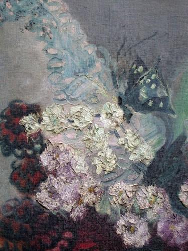 Paintings & Drawings  - Bouquet with butterflies - Rachel Baes (1912-1983)