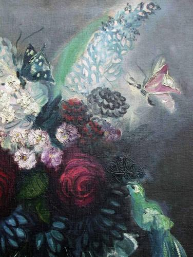 Bouquet with butterflies - Rachel Baes (1912-1983) -