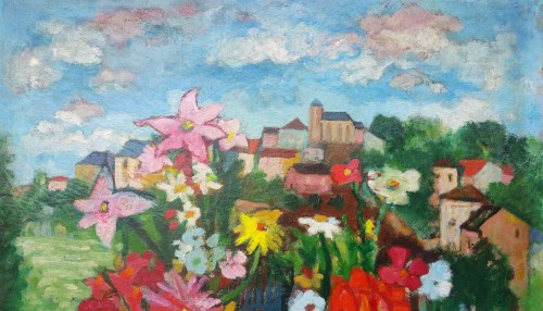 Country bouquet - Charles Walch (1896-1948) - Paintings & Drawings Style Art Déco