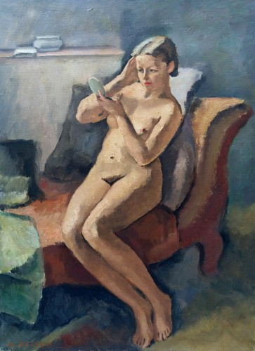 Nude in a mirror - Maurice Asselin (1882-1947)