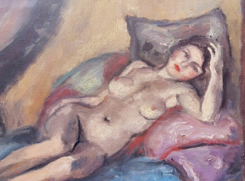 Paintings & Drawings  - Reclining nude - Maurice Asselin (1882-1947)