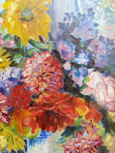 The Bouquet - A. Favory (1888-1937) - Paintings & Drawings Style Art Déco