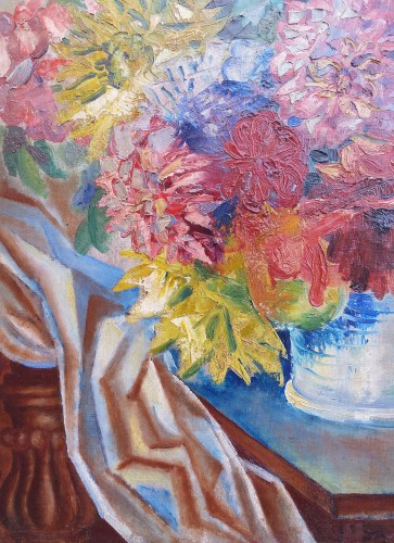 Paintings & Drawings  - The Bouquet - A. Favory (1888-1937)