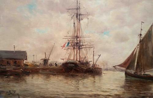 Marine B - Auguste Berthon (1858-1917) - Paintings & Drawings Style Napoléon III