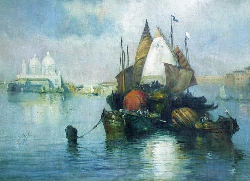 Paintings & Drawings  - Venice - Eliseo Meifrèn y Roig (1857-1940)