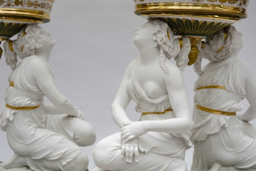 """Rare pair of baskets """"aux grâces"""", Faber in Brussels, circa 1825-1830 -"""