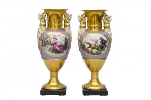 Ppair of porcelain vases, Russia Popov manufactor