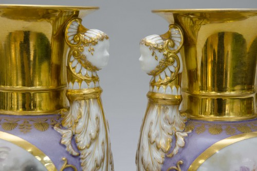 Porcelain & Faience  - Ppair of porcelain vases, Russia Popov manufactor