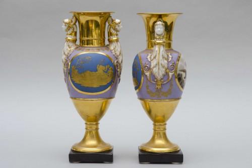 Ppair of porcelain vases, Russia Popov manufactor -