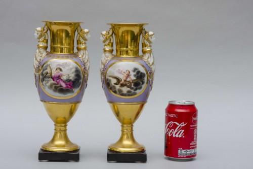 19th century - Ppair of porcelain vases, Russia Popov manufactor