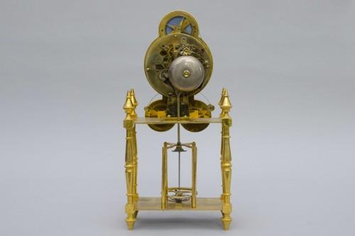 "Skeleton ""portique"" clock, Pillard in Troyes late 18th century -"
