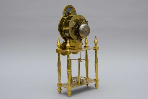 "18th century - Skeleton ""portique"" clock, Pillard in Troyes late 18th century"