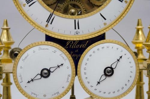 "Antiquités - Skeleton ""portique"" clock, Pillard in Troyes late 18th century"