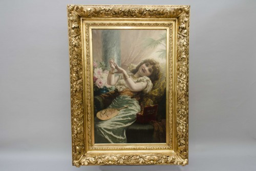 Antiquités - The Jelewry box -  STEVENS Agapit (1848 -  1924)