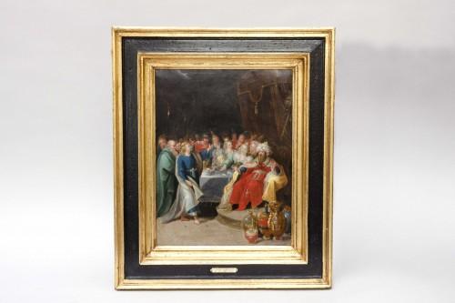 """Paintings & Drawings  - """"Feast of Balthazar"""" workshop of Frans Francken II (1581-1642)"""