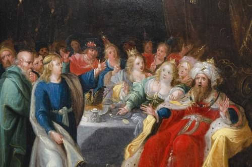 """Feast of Balthazar"" workshop of Frans Francken II (1581-1642) -"