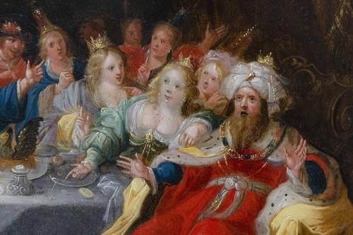 "Antiquités - ""Feast of Balthazar"" workshop of Frans Francken II (1581-1642)"