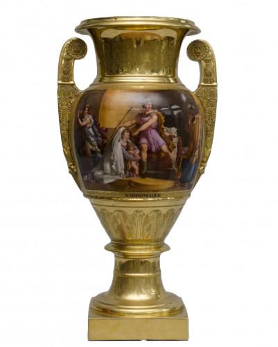 "Monumental Empire vase ""Andromaque and Pyrrhus"", attributed to Darte Frères in Paris"