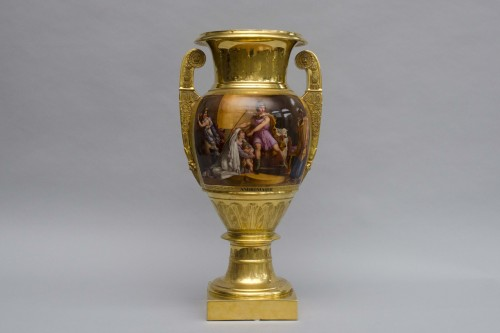 "19th century - Monumental Empire vase ""Andromaque and Pyrrhus"", attributed to Darte Frères in Paris"