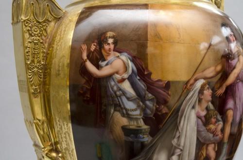 "Empire - Monumental Empire vase ""Andromaque and Pyrrhus"", attributed to Darte Frères in Paris"