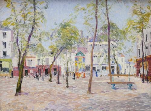 """""""Place du Tertre, Montmartre"""" 1919 - Paul Mathieu (1872-1932)"""