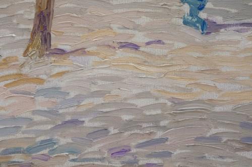 """Paintings & Drawings  - """"Place du Tertre, Montmartre"""" 1919 - Paul Mathieu (1872-1932)"""