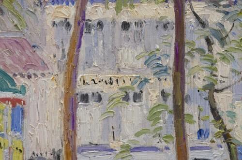 """""""Place du Tertre, Montmartre"""" 1919 - Paul Mathieu (1872-1932) -"""