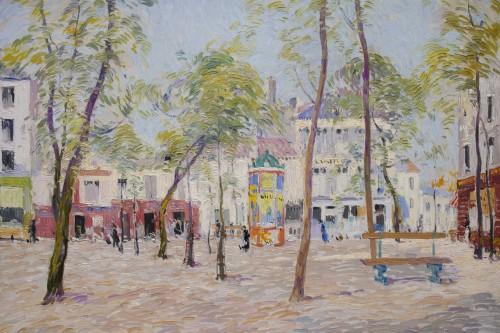 """20th century - """"Place du Tertre, Montmartre"""" 1919 - Paul Mathieu (1872-1932)"""