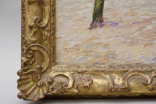 """""""Place du Tertre, Montmartre"""" 1919 - Paul Mathieu (1872-1932) - Art nouveau"""