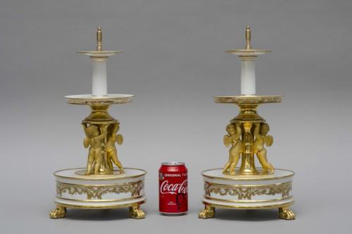 Antiquités - Pair of three tier dessert stands, Feuillet in Paris