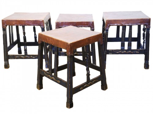 Set of four Chokwe stools - circa 1930