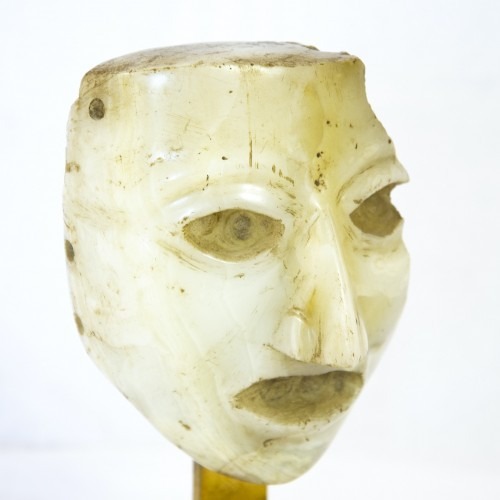 Sculpted Head in Alabaster - Mexico -