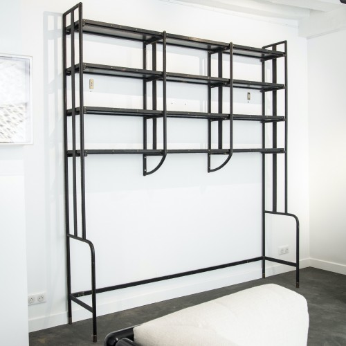 Rare Bookcase by Jacques Adnet - circa 1950 - Furniture Style