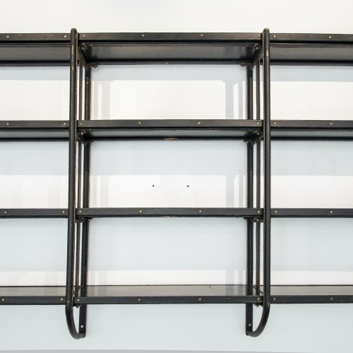 Furniture  - Rare Bookcase by Jacques Adnet - circa 1950